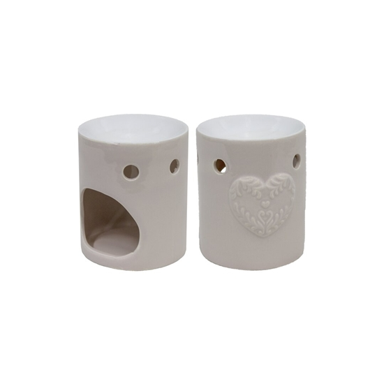 صورة Ceramic Oil Warmer. Ideal Gift for Weddings, Spa, Meditation, and Aromatherapy