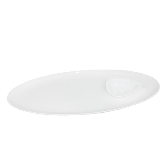 صورة طبق تقديم - أبيض 40 سم