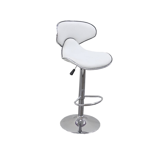 صورة كرسي عالي بقدم معدني قياس 82 × 32 × 39 سم