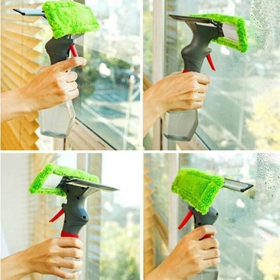 صورة فرشاة ممسحة الزجاج مُنظف نوافذ سهلة الاستخدام