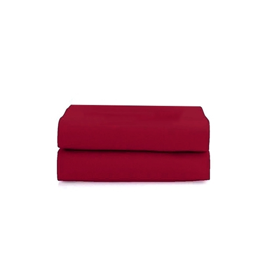 Picture of King - Cotton & Polyester Red Flat Sheet - 260 x 275 Cm