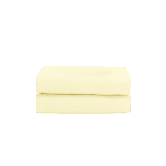 Picture of Queen - Cotton & Polyester Beige Flat Sheet - 210 x 265 Cm