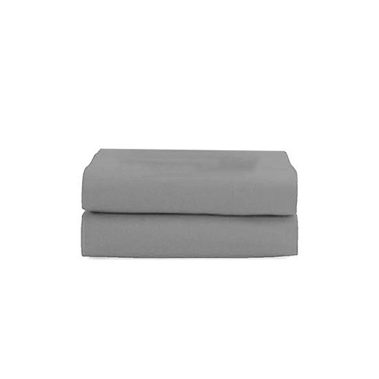 Picture of Queen - Cotton & Polyester Grey Flat Sheet - 210 x 265 Cm