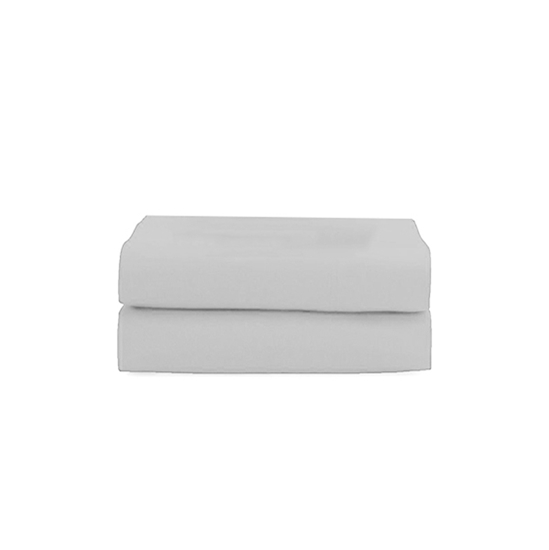 Picture of Queen - Cotton & Polyester Light Grey Flat Sheet - 210 x 265 Cm