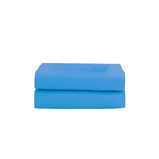 Picture of Queen - Cotton & Polyester Blue Flat Sheet - 210 x 265 Cm