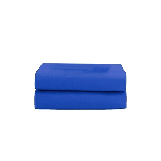 Picture of Queen - Cotton & Polyester Dark Blue Flat Sheet - 210 x 265 Cm