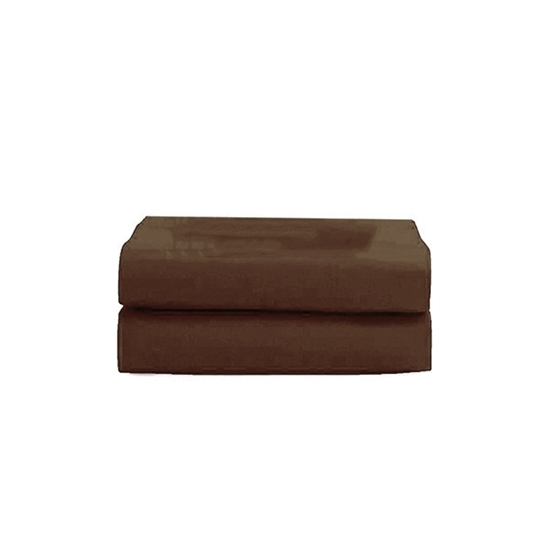 Picture of Queen - Cotton & Polyester Brown Flat Sheet - 210 x 265 Cm