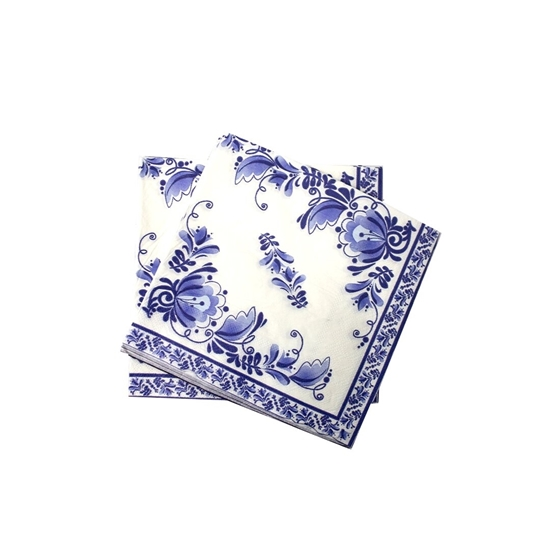Picture of 20 pcs Printed Paper Napkins Disposable