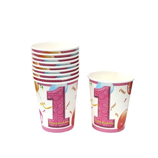 Picture of First Birthday Paper Cups (pack Of 10)