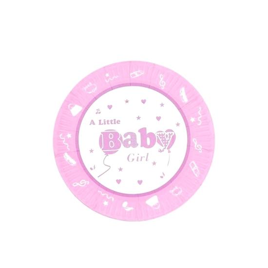 صورة Baby Girl Paper Plate