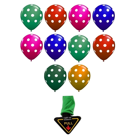 Picture of Light up Latex Balloons - 5 PCs