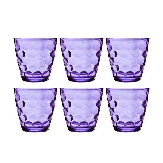 Picture of Beverage Glass Cup Set - Colorful Drinkware for Different Beverage  Set of 6