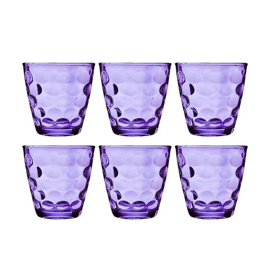 صورة Beverage Glass Cup Set - Colorful Drinkware for Different Beverage  Set of 6
