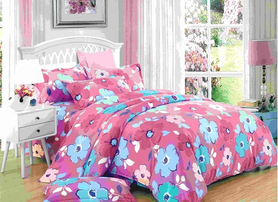 Picture of Queen - 4 Pieces Sheet Set - Cotton & Polyester Sheets - Fitted Sheet, Duvet, Pillow Cases