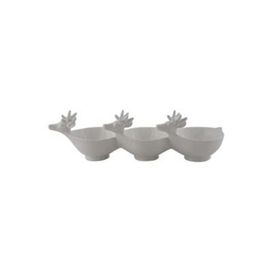 Picture of Ceramic Serving Bowls with Metal Rack - 34 x 14 Cm