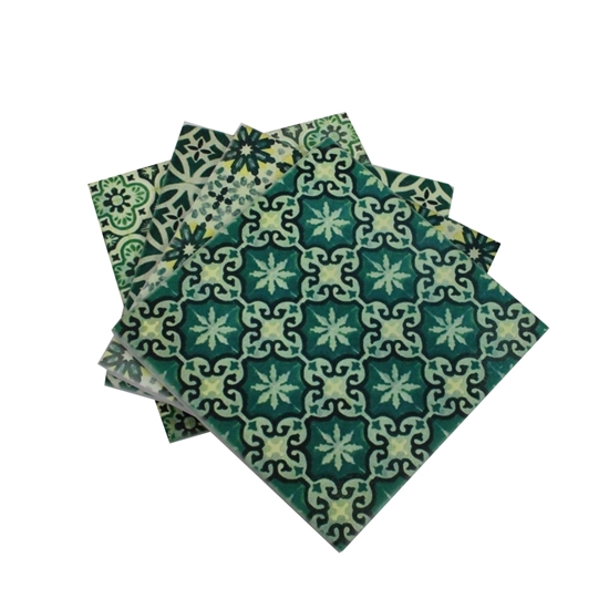 صورة SQUARE CERAMIC COASTER 4PCS/BOX 695-6