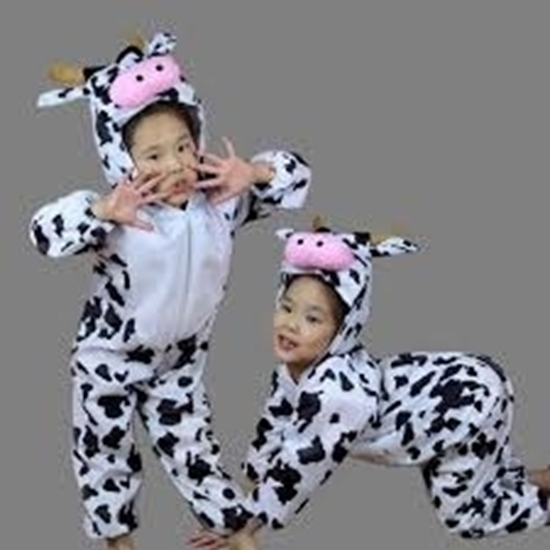 Picture of Kids Animal Costume Role Play Fancy Dress Full Sleeve Jumpsuit Halloween Party Costume