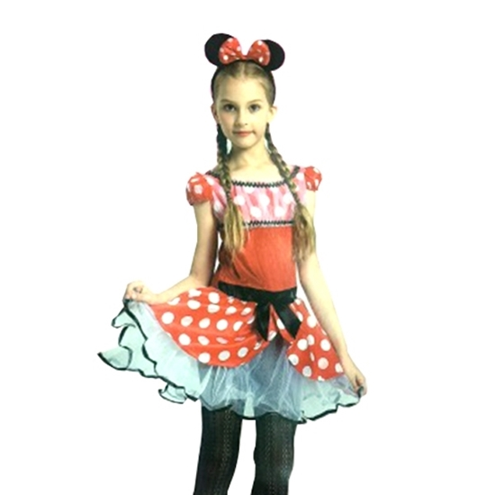 Picture of MINNIE MOUSE COSTUME Small: 110 cm / Medium: 120 cm / Large: 130 cm