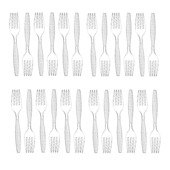 Picture of Plastic Forks - 18 PCs