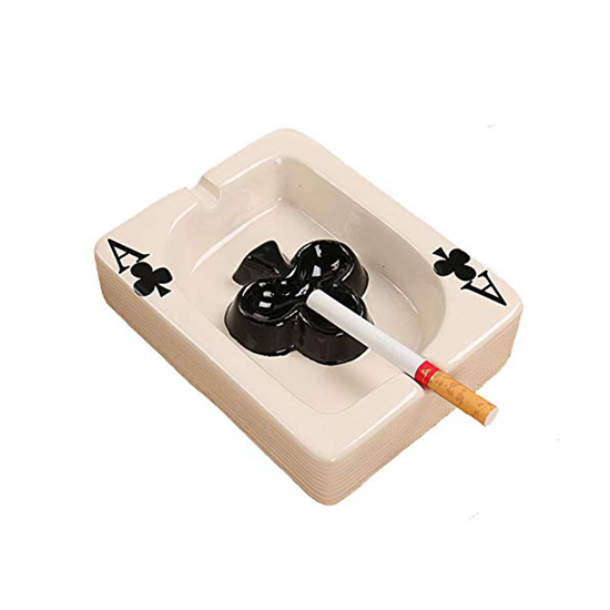صورة منفضدة سجائر من السيراميك قياس 3.5 × 11 × 14 سم