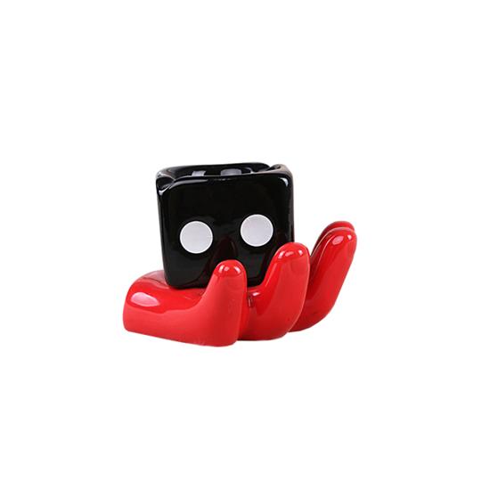 Picture of Ceramic Cigarette Ashtray - 8 x 9 x 11 Cm