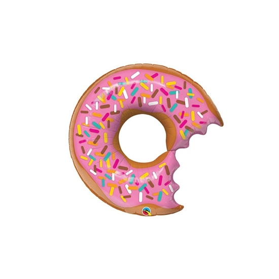 صورة Donut Party Decorations Set, Donut Grow Up Banner Balloons, Cupcake Toppers for Donut Birthday Party, Doughnut Candy Balloon for Birthday Wedding Party 48 x 73 cm
