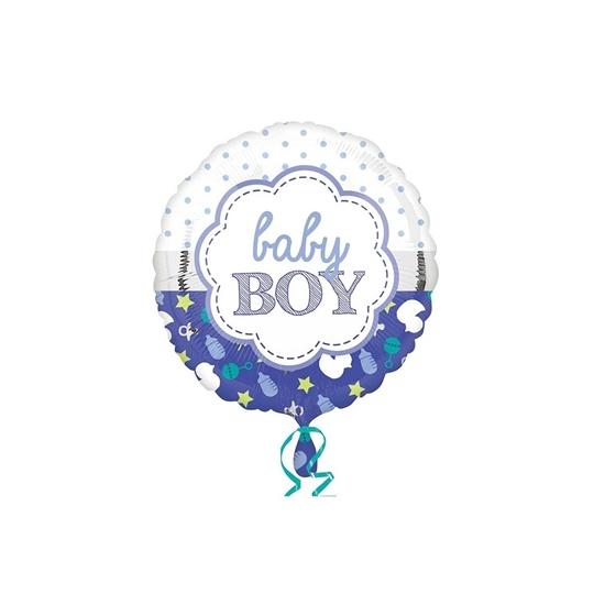 """صورة """"Baby Boy"""" Helium Balloon - 45 x 45 Cm"""