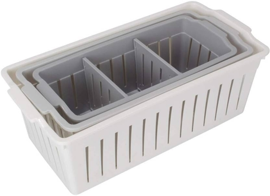 Picture of Plastic Baskets, 3 pcs - 34 x 17 x 11 Cm
