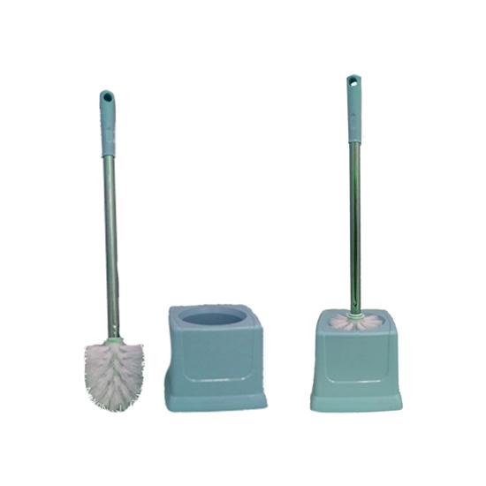 Picture of Toilet brush bathroom - Toilet brush plastic Toilet Brush Set thickening Belt base toilet cleaning brush floor toilet brush 50 x 14 CM