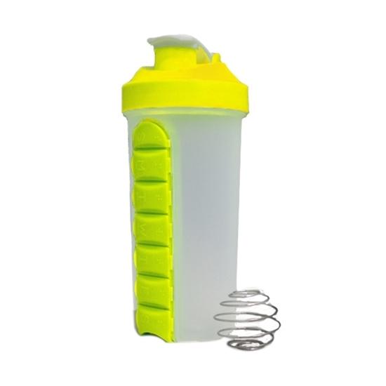صورة زجاجة منظم الدواء من البلاستيك - قياس 20 × 10 سم