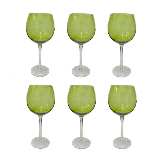 صورة أكواب زجاجية قياس 8 × 22سم مجموعة من 6 أكواب