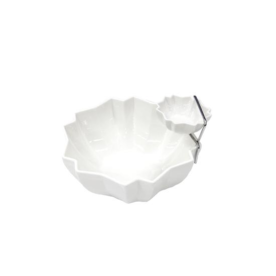 Picture of White Ceramic Serving Bowl - 19 x 20 Cm