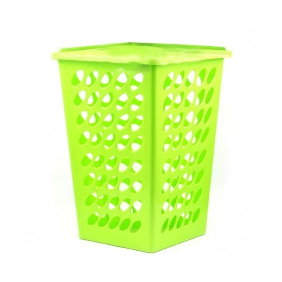 صورة سلة ملابس بلاستيكية  - قياس 40 × 42 سم