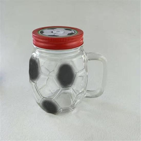 صورة FOOTBALL GLASS WITH STRAW - 13 x 8 Cm