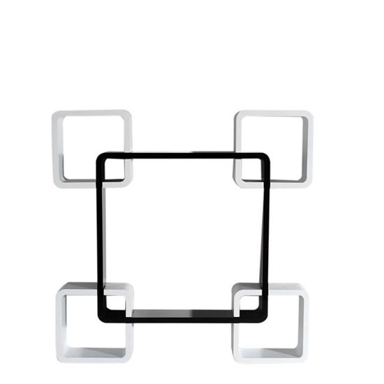 Picture of Decorative MDF Colored Modular Square Shape Wall Shelf Set Of 4 - 59 x 29 x 10 Cm