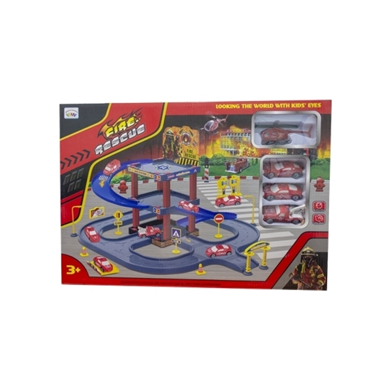 Picture of Fire Rescue Toy Play Set  66 Pcs - 42 x 47 x 18.5 Cm