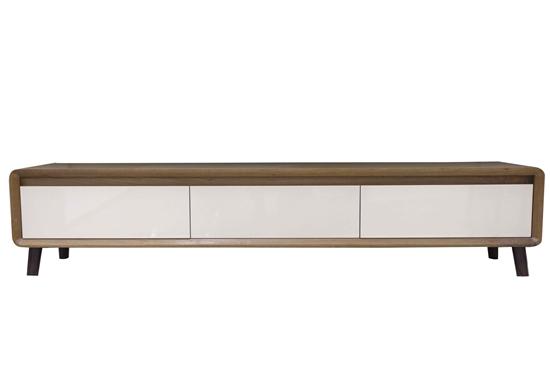 صورة TV Stand in Brown & Beige - W40 x L197 x H42 Cm