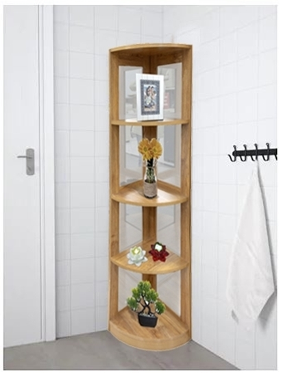 Picture of 4 Tier Wooden Corner Shelf - 34W x 135H Cm