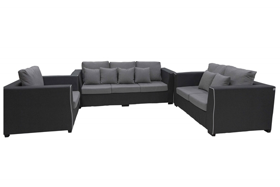 Picture of DARK GREY THREE SEATS - 210 x 90 x 85 Cm + TWO SEATS - 160 x 90 x 85 Cm + ARM CHAIR - 110 x 90 x 85 Cm