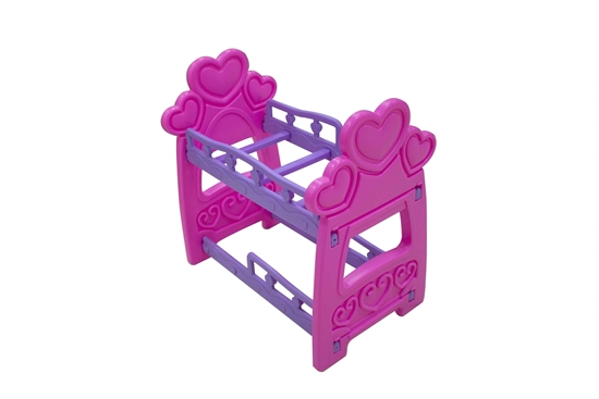 Picture of Plastic Double Bed Toy for Doll - 43 x 27 x 44 Cm