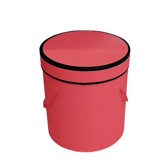 Picture of Red Cylinder Gift Box - 21 x 20 Cm