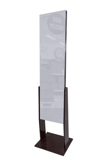 Picture of Black Standing Mirror With Shelves - W: 35 / L: 46 / H: 145 cm