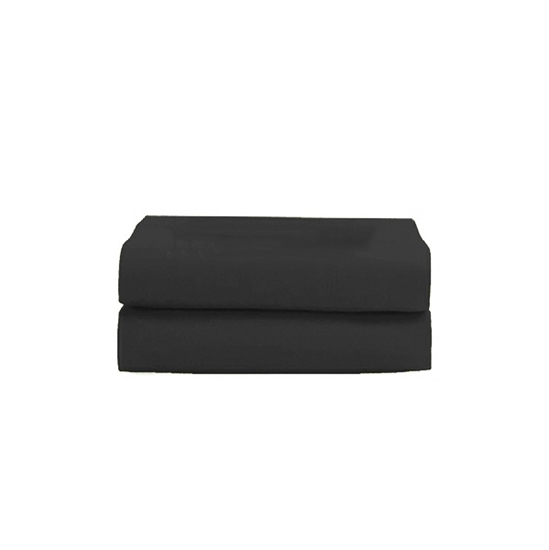Picture of Queen - Cotton & Polyester Black Flat Sheet - 210 x 265 Cm