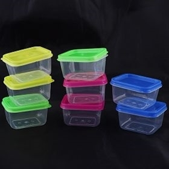 Picture of Mini Square Food Storage Box with Cover 10 PCS Set - 85 ML