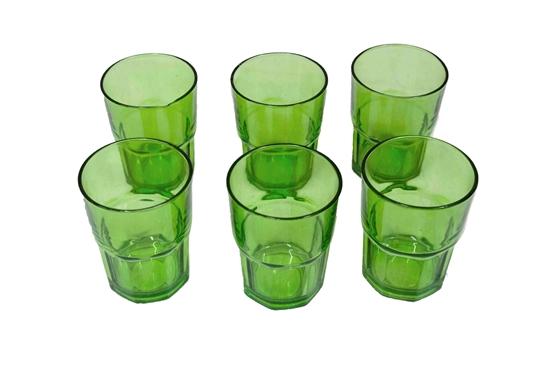 صورة COLORED WATER CUP 6PCS/SET - 10 x 7.5 Cm
