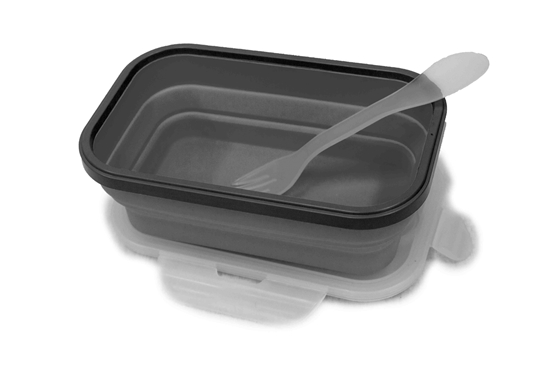 Picture of GREY SILICONE TUPPERWARE - 20 x 12 x 7.5 Cm