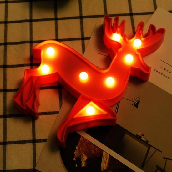 صورة Deer Shape Decorative Light - 24 x 18 x 3 Cm