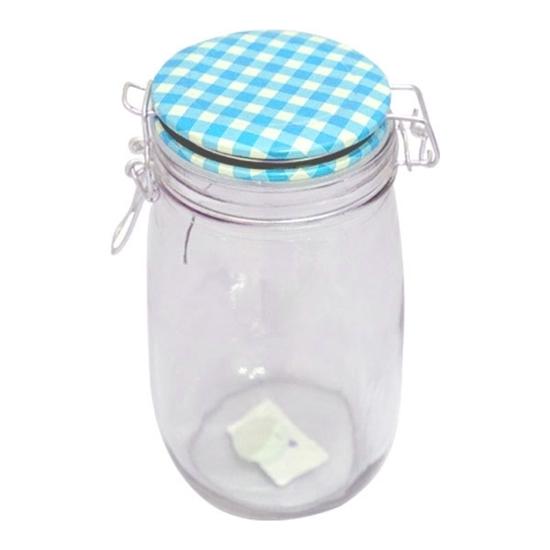 صورة Glass Jar 1.4 L -  21 x 10 Cm