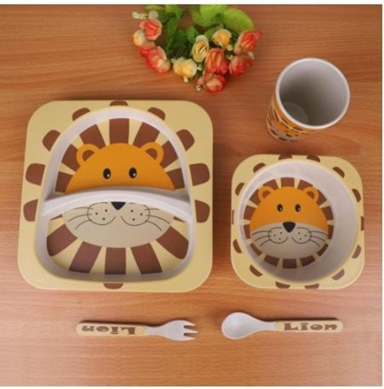 Picture of Bamboo plate set - 26 x 24 x 9 Cm