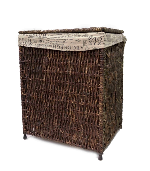 Picture of Laundry Basket with Cover - 44 x 34 x 55 Cm